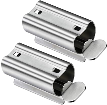 2PCS Roller Tube Toothpaste Squeezer Keys Stainless Steel Dispenser Salon Tool