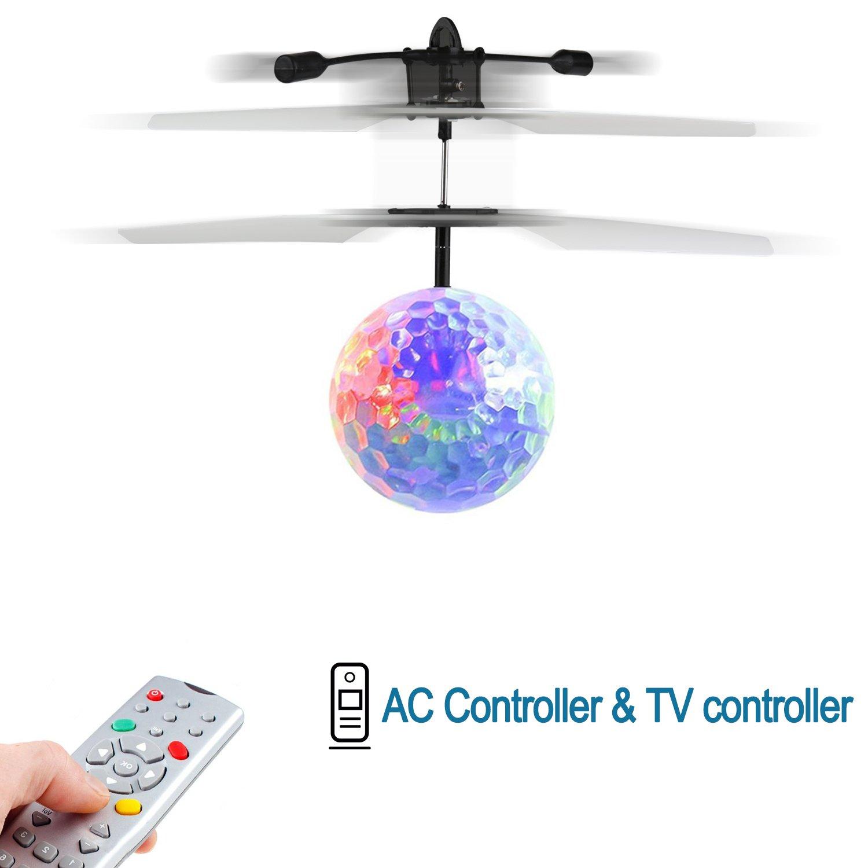 Music Flying BallChildren Flying Toys RC Drone Helicopter Ball