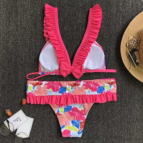 Stampa Bikini Fiocco Bagno Multicolore Con up Push Femme Costumi Ohq Di Da Donna Due Pezzi Sexy Moda Bain Costume Z6WBPEqU