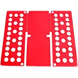Quick Adult Kids Clothes T Shirt Dress Fast Folding Folder Board Flip Organizer (Red)