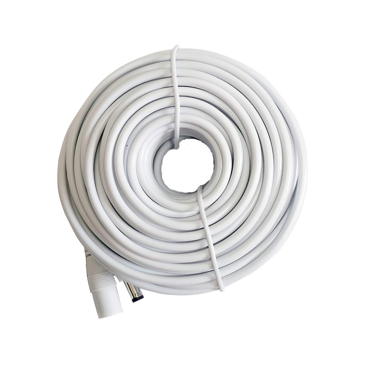 12V DC Power Extension Cable 2.1mm x 5.5mm Plug Universal Extension Cords Cable Compatible with 12V Power Adaper for Home Security IP Camera 50ft (15M) White