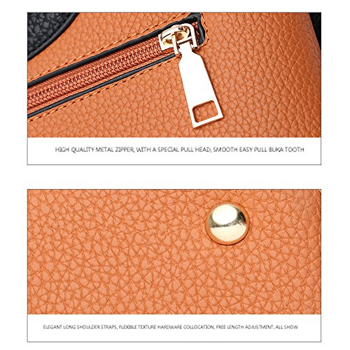 Di Marrone Dei Sfera Capelli Grandi Modo Diagonale Nuovo Yxlong Solido Della Sacchetto Decorazione Colore Pacchetto Coreano Signore qxapwFC6