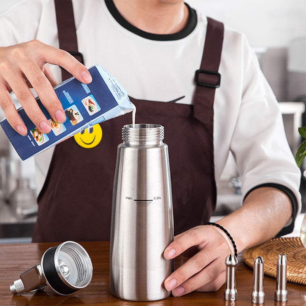 Compra Thinkels-tech Cream Whipper - Dispensador de Crema de Aluminio para Batidos (TPU), Antideslizante, Utiliza Cartuchos estándar N20 (no incluidos) en ...