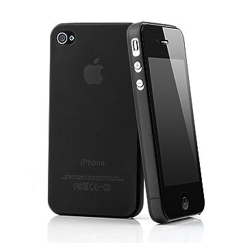 QUADOCTA iPhone 4 4s Funda Ultra Slim Case (Negro) Bumper Carcasa Cover Transparente Cover