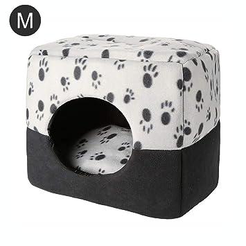 SinceY caseta Perro, Nido para Animales domésticos de Doble Uso para Arena de Gato Otoño