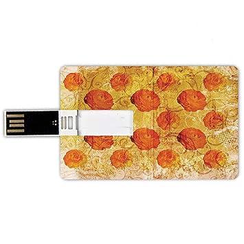 8GB Forma de tarjeta de crédito de unidades flash USB Naranja ...