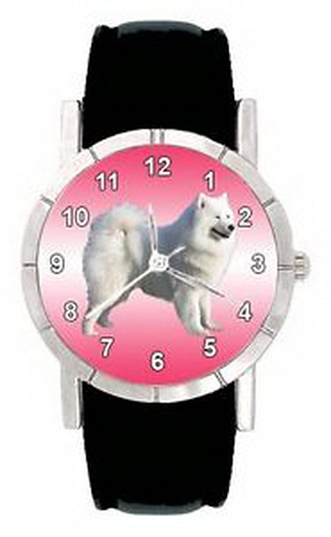 jwl0829 Samoyed Sami犬メンズレディース本革防水腕時計 B01N4EZKTT
