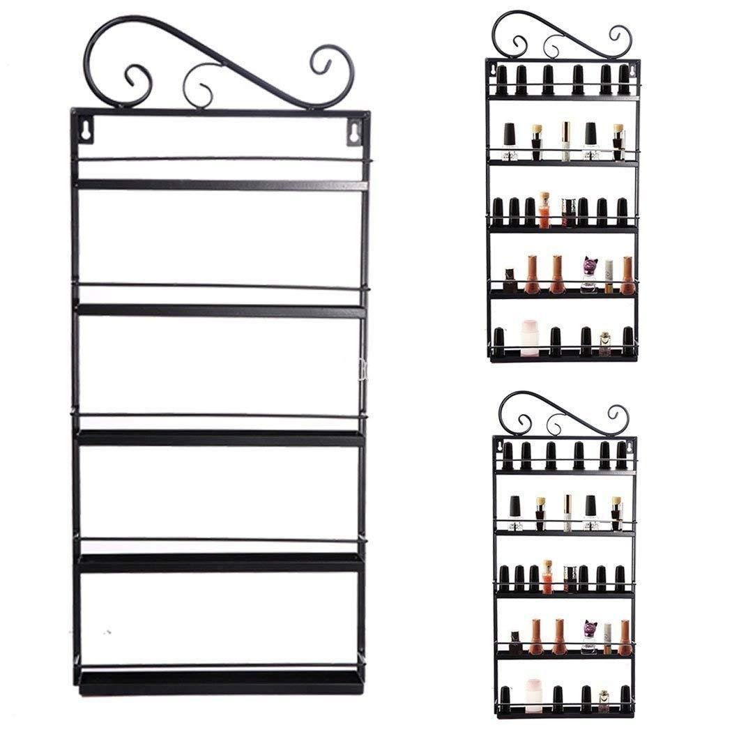 5 Tier Nail Polish Rack, Multi-Purpose Wall Mounted Organizer Display Shelf for 50 Nail Polishes at Home Business Spa Salon by Garain (Image #3)