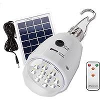 Lanterne de camping LED Portable et Rechargeable, Lampe Torche 2.5W solaire, lampe portable pour les Activites Exterieur et Interieur Comme Camping,Pêche,Bricolage,Lampe Chantier