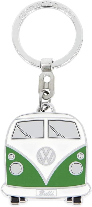 Brisa Vw Collection Volkswagen T1 Bulli Bus Schlüssel Anhänger In Geschenkdose Geschenk Idee Fan Souvenir Retro Vintage Artikel Grün Softemaille Verchromt Küche Haushalt