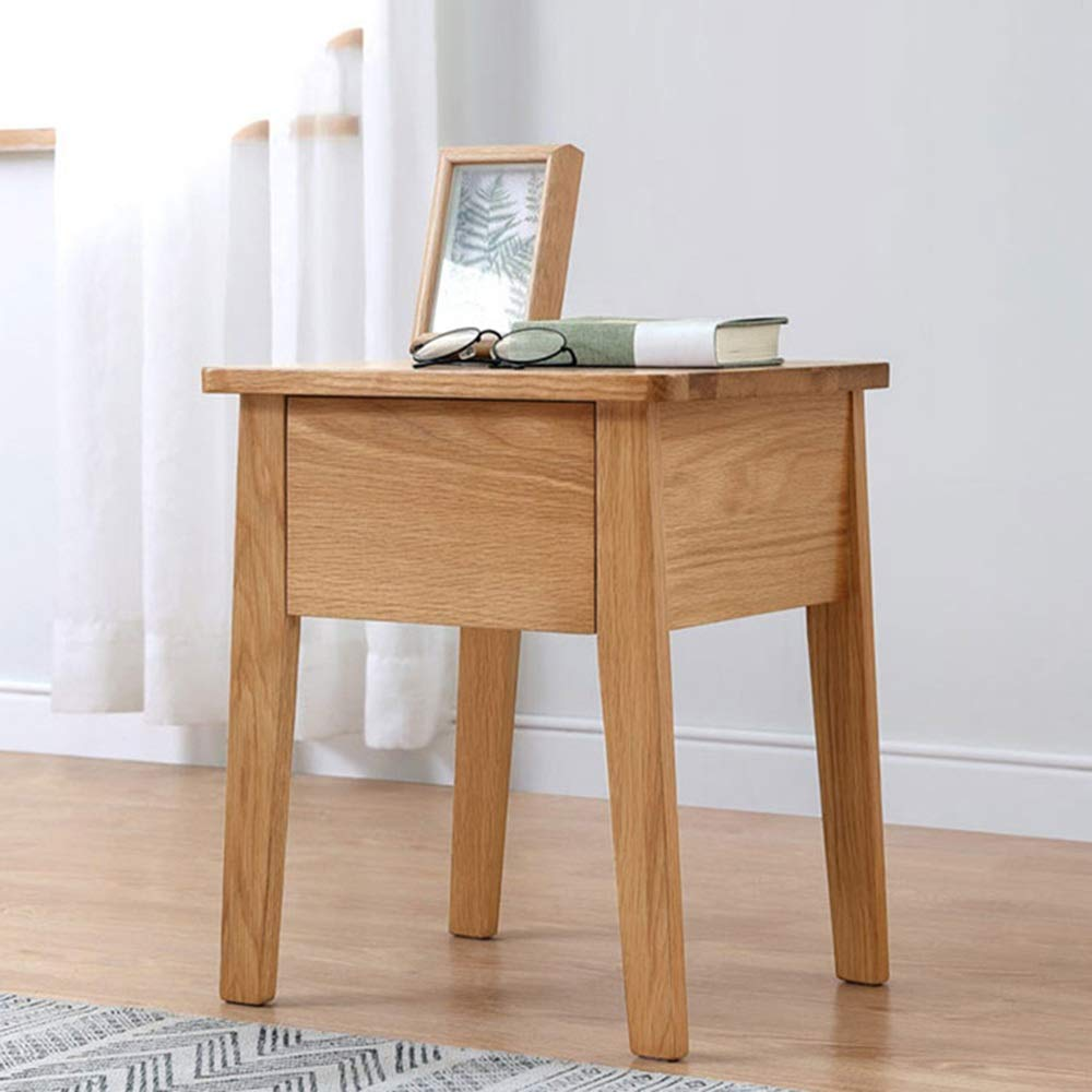 LJHA bianzhuo Bedside Table, Nordic Locker Bedroom Mini Solid Wood Furniture Bedside Table Simple Modern Small Sideboard Bed Narrow Cabinet Bedside Tables by GYH End Table