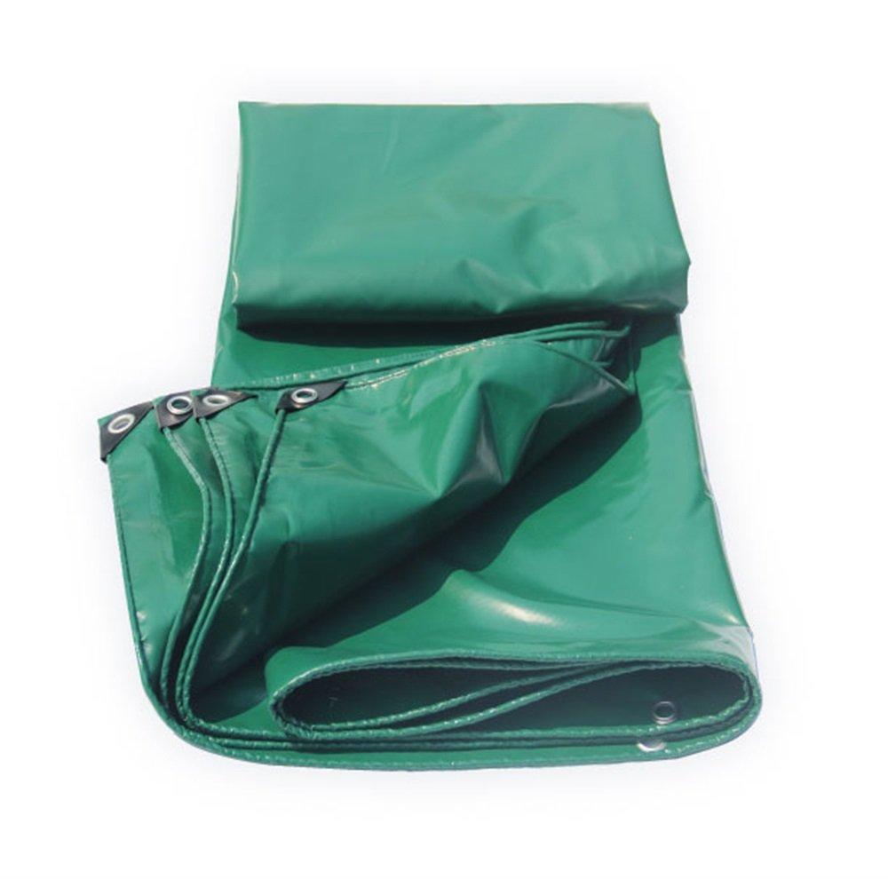 Heavy Duty Plane doppelseitige wasserdichte Plane Grün Regen Abdeckung Tarp Outdoor Camping Cover - 100% wasserdicht und UV-geschützt - 450g   m² - Dicke 0,4 mm (größe   4MX6M)