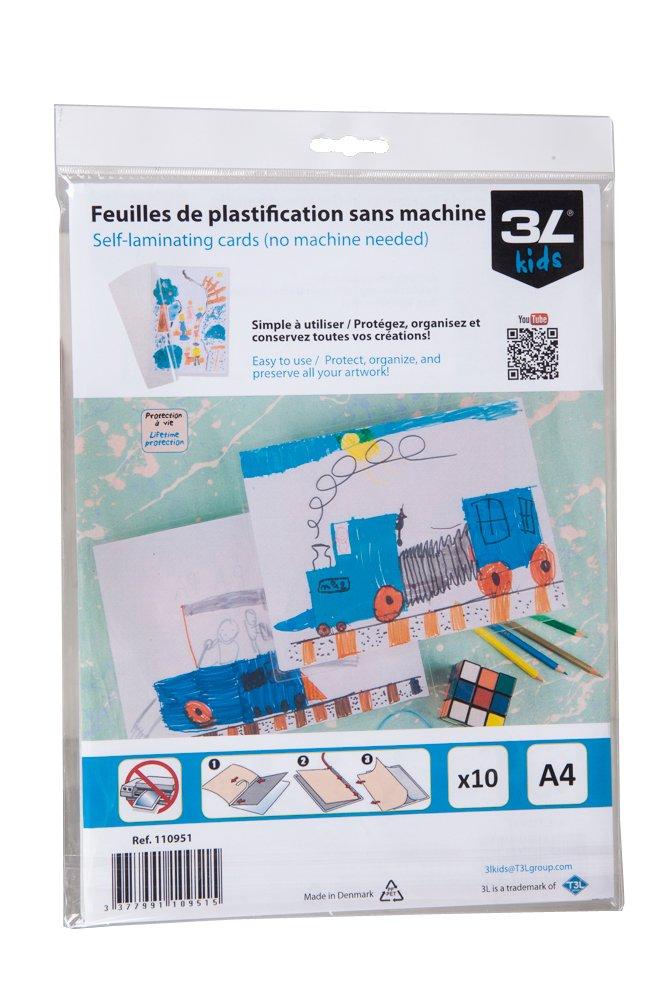 Feuilles De Plastification Froid A4 Sans Machine 3L Kids Amazonfr Fournitures Bureau