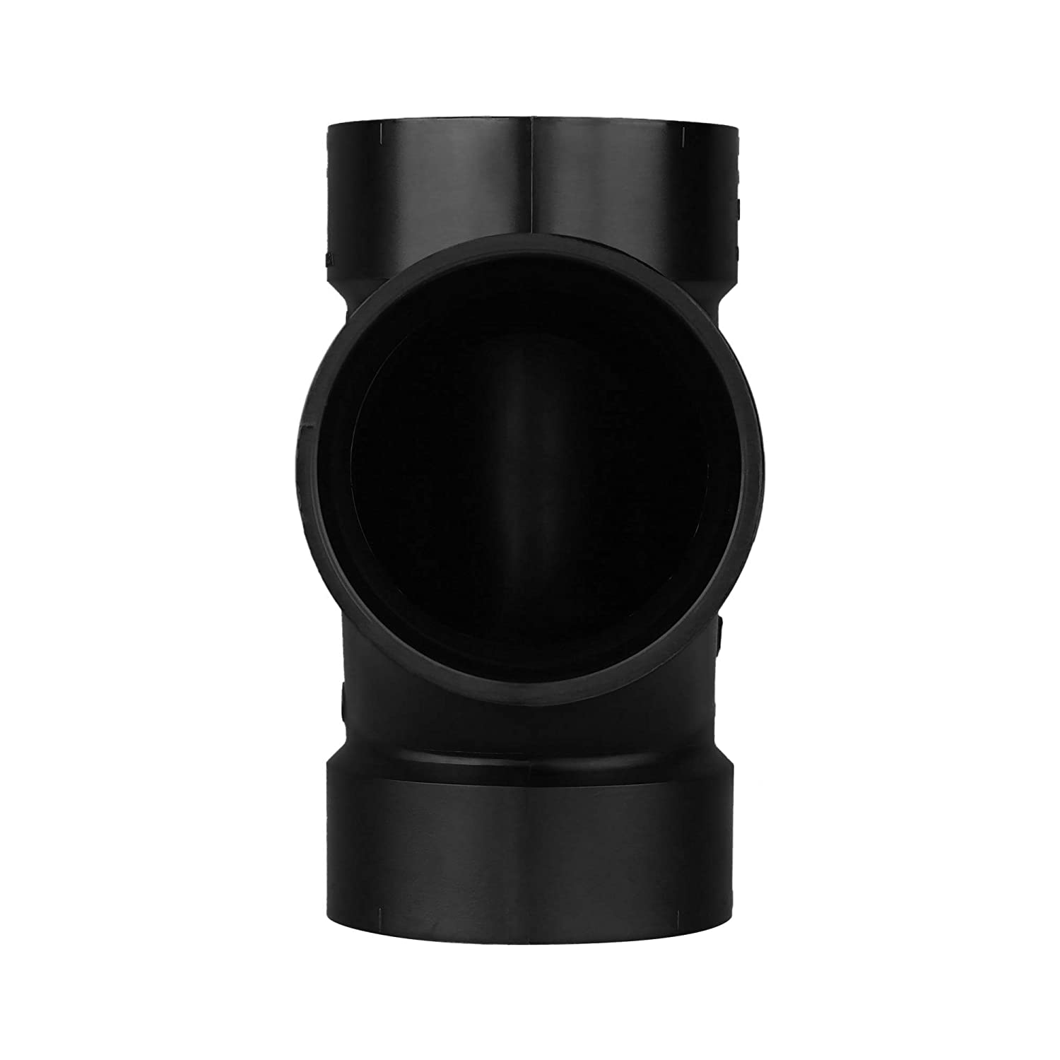 Charlotte Pipe 4 DWV Sanitary Tee All Hub ABS DWV Single Unit Drain, Waste and Vent Schedule 40