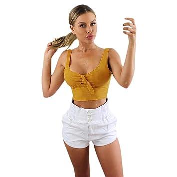 Chaleco Corto de Mujer, LILICAT® Camisetas sin mangas sin tirantes atractivas de la moda