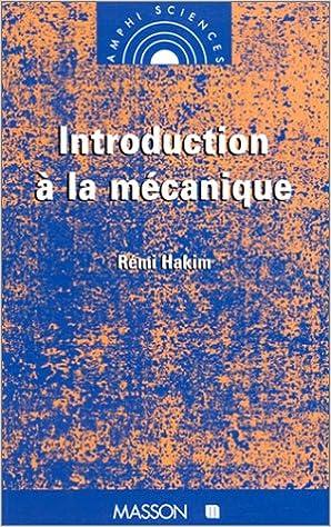 Livre Introduction à la mécanique epub pdf