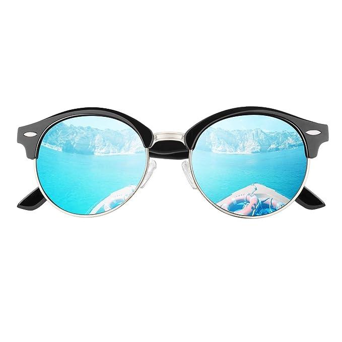 GQUEEN Bocina enculado Medio marco gafas de sol polarizadas GQ51 ...