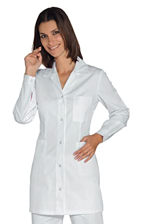 Isacco-Camiseta para Mujer Manga Larga Marbella, Color Blanco, 100% algodón: Amazon.es: Ropa y accesorios