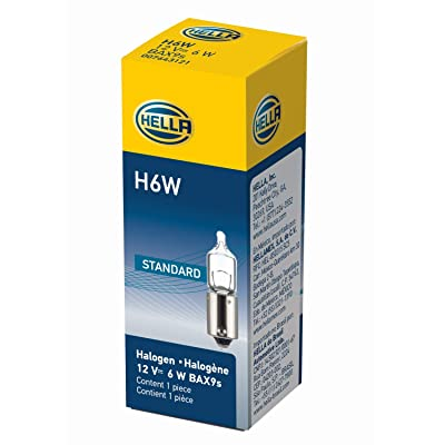 HELLA H6W Long Life Miniature Halogen Bulb, 12V: Automotive