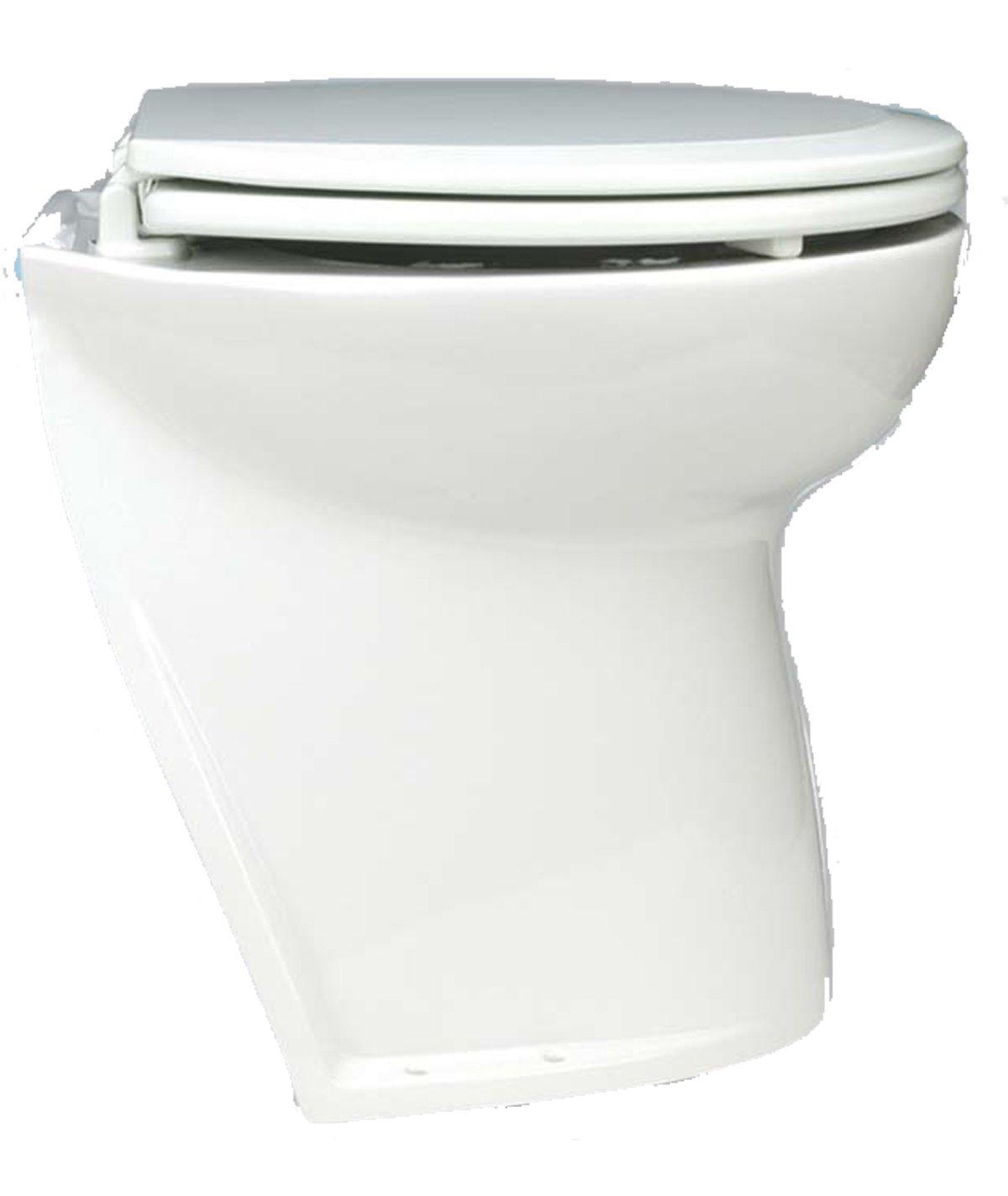 Jabsco Deluxe Flush 17 Elektrotoilette mit abgeschrägtem Rücken