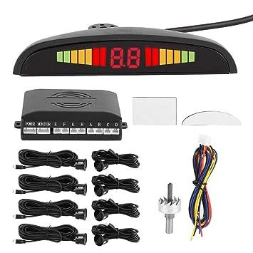 Gorgeri 8pcs ABS LCD Coche Digital Sensores de ...