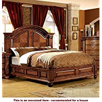 247SHOPATHOME Idf-7738EK Bed-Frames, King, Walnut