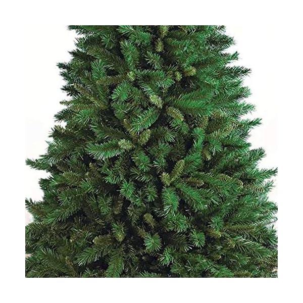 Totò Piccinni Albero di Natale Artificiale, 210 cm (1078 Rami) Borsone e Copribase, FOLTO di ALTISSIMA QUALITA', Effetto Realistico, Rami a Gancio, Facile Montaggio, PVC, Base Metallica, Ignifugo 3 spesavip