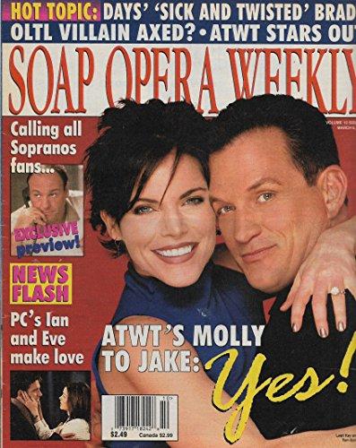 Soap Opera Weekly Magazine - March 6, 2001 - Lesli Kay & Tom Eplin (As the World Turns) l James Gandolfini (The Sopranos) l Elisabeth Moss