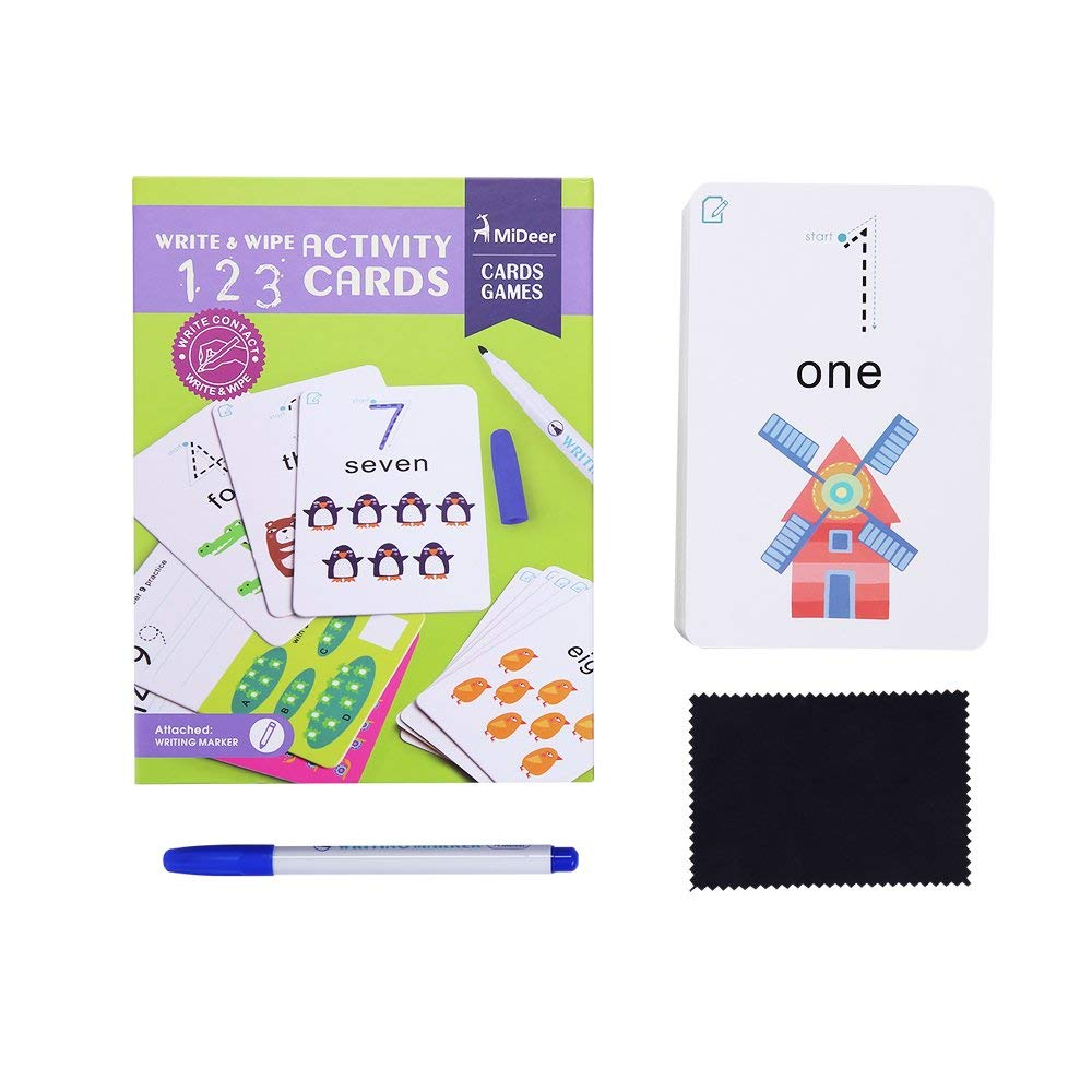Home Mideer Write And Wipe Off Alphabet Words Math Kids Activity Writing Cards Games Learning Educational Toys For Children Gift