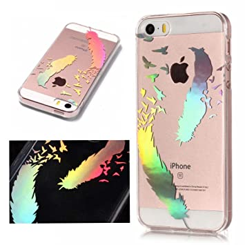 coque iphone 5 silicone plume