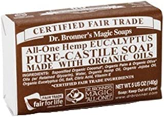 product image for Dr. Bronner's Magic Soaps: Pure Castile Bar Soap, Eucalyptus 5 oz (5 pack)