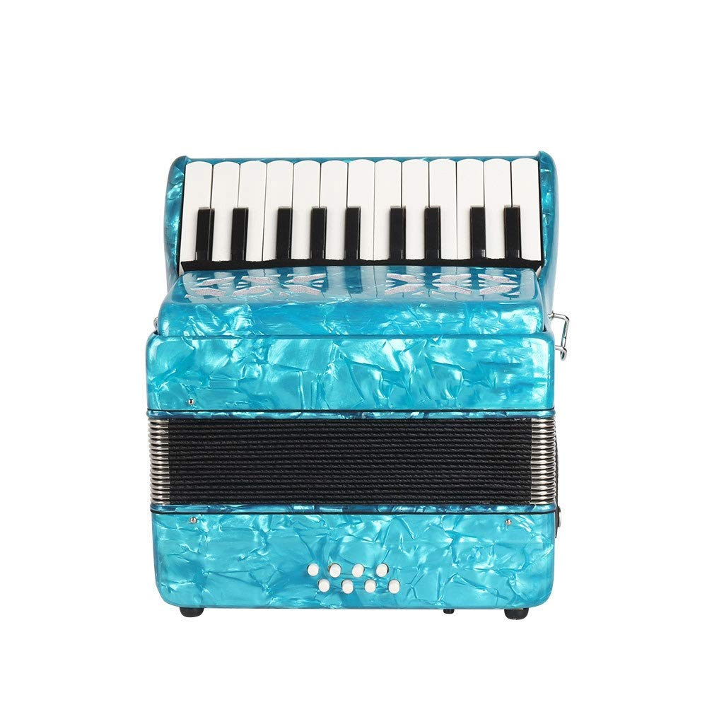 Accordion High Grade Professional Beginners Students Adults Accordion with Shoulder Strap Gloves 22 Keys 8 Bass Kids Music Accordion Instruments Educational Band Musical Toys Children's Gift by Ybriefbag-Musical Instruments
