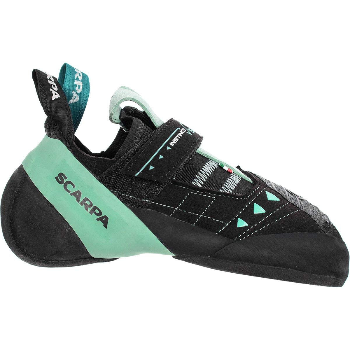 SCARPA Instinct VS Climbing Shoe - Women's Black/Aqua 34.5 by SCARPA