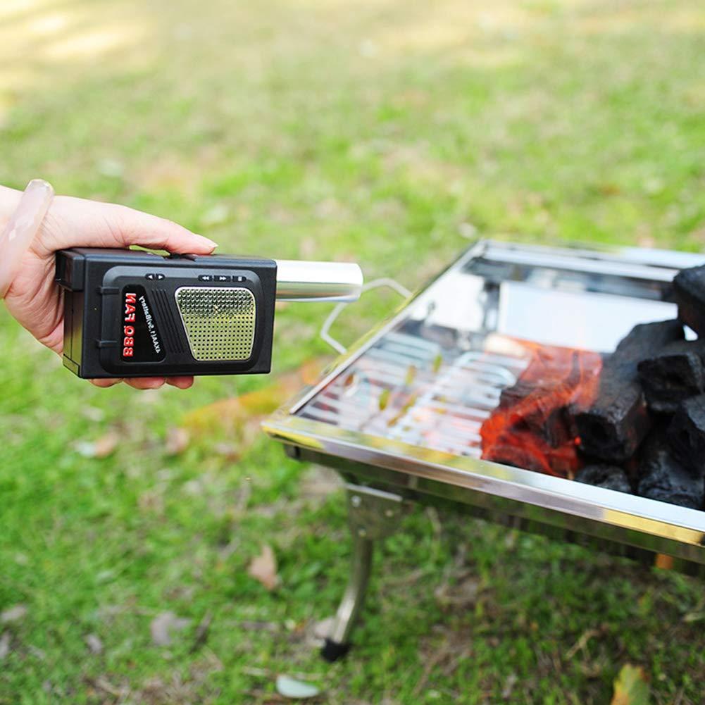 Vobor Soplador de Barbacoa el/éctrico-Ventilador de Mano el/éctrico port/átil con Ventilador de Barbacoa for Acampar al Aire Libre Picnic Barbecue Cooking Tool