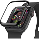 Ringke Bezel Styling for Apple Watch 4 44mm Case (2018), Bezel for Apple Watch 5 44mm Case (2019) Cover Adhesive Accessory - Glossy Black