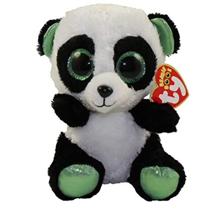 c09c3ff534b Amazon.com  Ty Beanie Boos Yumi - Panda Bear (Justice Exclusive)  Toys    Games