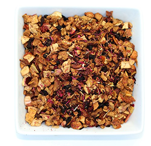 Tealyra - Strawberry Rhubarb Fruity Tea - Hibiscus - Apple - Herbal Loose Leaf Infusion - Dessert and Relaxing Blend - Iced - Caffeine-Free - 112g (4-ounce)