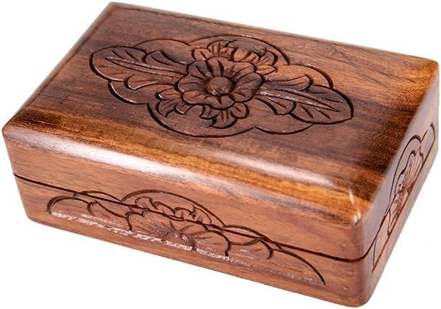 Diseño Decoración Madera baúl Caja Caja Caja de madera cocina baño salón decoración: Amazon.es: Hogar