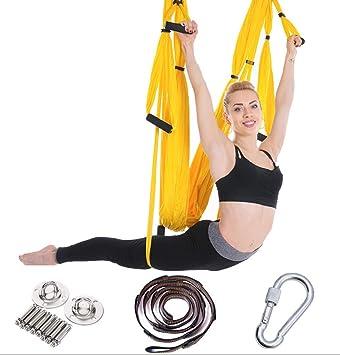 Sunny Hamaca aérea para Yoga, Juego de hamacas, 6 manijas ...