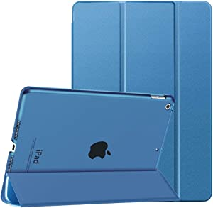 Dadanism iPad 8th Generation Case 2020/iPad 7th Generation Case 2019, [Shock Absorption] Ultra Slim Lightweight Trifold Stand Smart Cover for iPad 10.2 inch 2020/2019 Release Tablet, Sea Blue