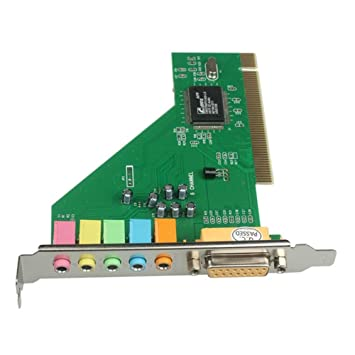 PCI 6 Channel 3D Sound Audio Card CMI8738-MX Chipset 5 1 Channel Intenral  PC Sound Adapter BY SMART GEAR 4 U
