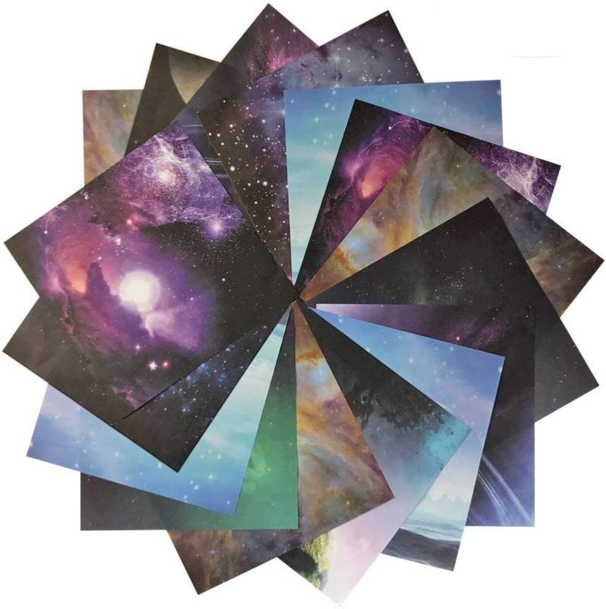 Astronomy Origami Paper 140 Sheets Double Sided 6 Inch Square Sheet for Kids /& Adults Arts and Crafts Projects E-Book Included Papers 10 Vivid Colors,Premium Quality Paper