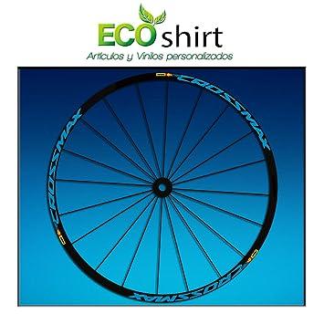 Ecoshirt XS-NUHP-QUKA Pegatinas Stickers Llanta Rim Mavic Crossmax SL Pro Am50 MTB