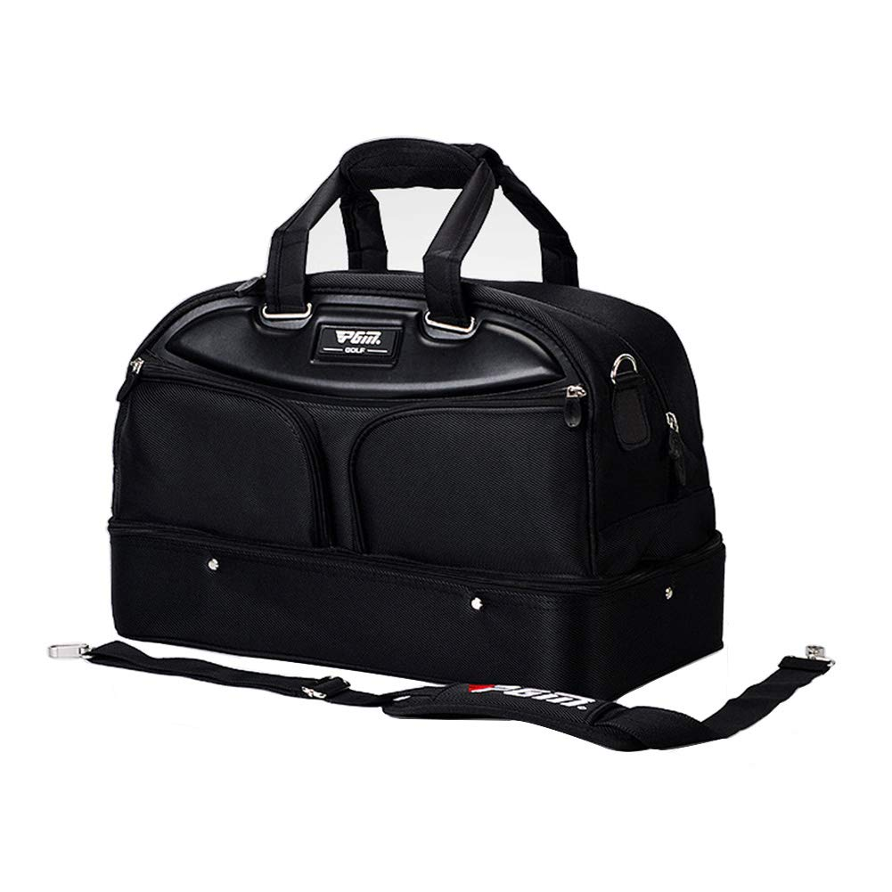 Black Golf Duffle Bag for Men,Seperated Shoes Pouch on The Bottom