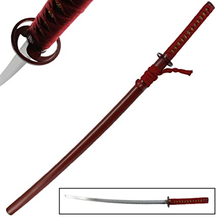 Amazon.com: Hit Ninja Anime japonés espada, color rojo ...