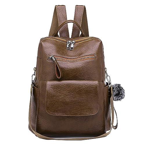 LIGEsayTOY UmhäNgetasche Braun Handtaschen Rucksack Damen