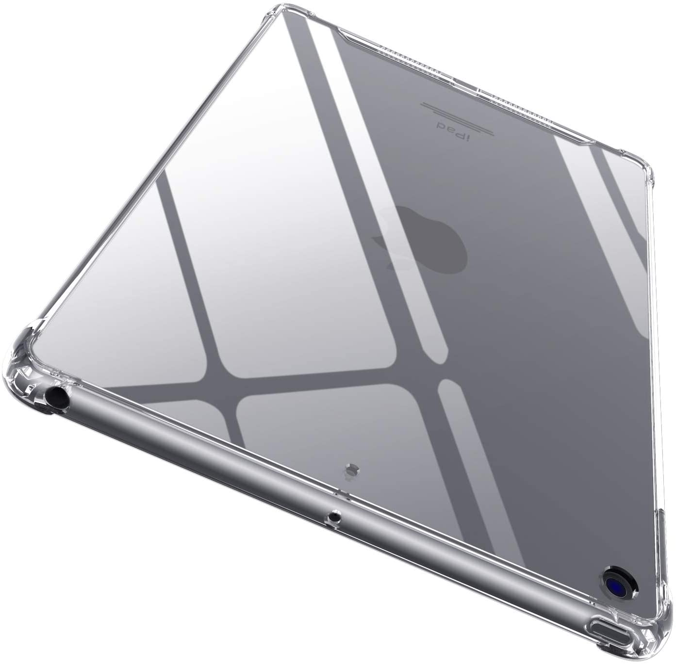 AIWEI Diamond Case for Clear iPad 8th Gen (2020)/7th Gen (2019) , [Non Yellowing] [Military Drop Protection But No Bulky] Slim Fit Hard iPad Case with Non-Slip TPU Bumper for iPad 10.2