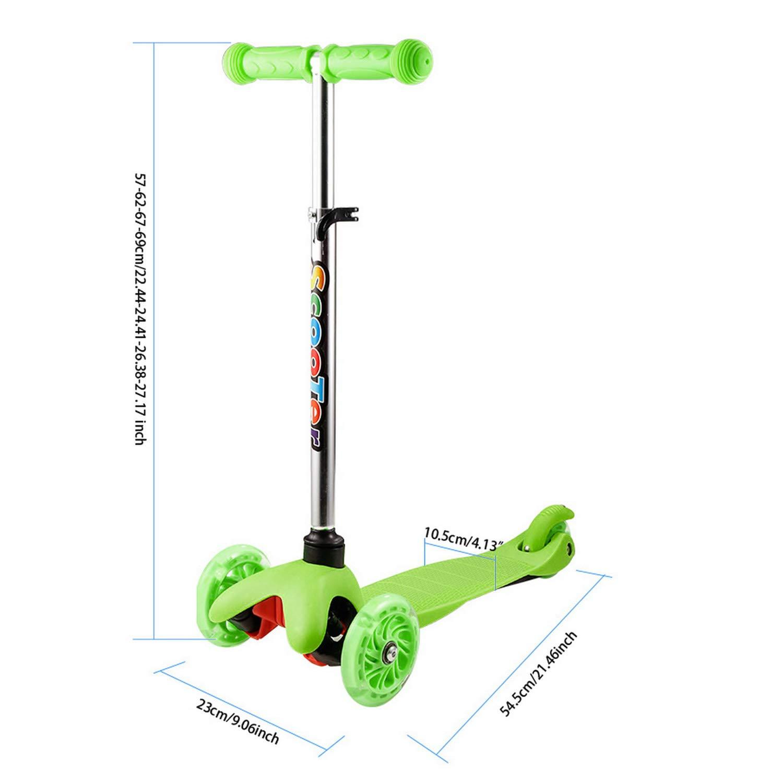 Hikole Scooter para niños pequeños, 3 Ruedas, Altura ...