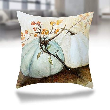 J-Toy Fundas de Almohada para decoración de otoño, Calabaza ...