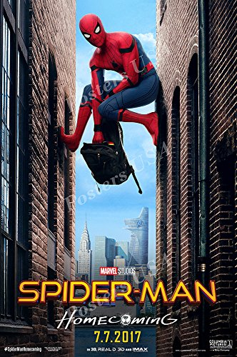 Top spiderman homecoming poster 24×36 for 2019
